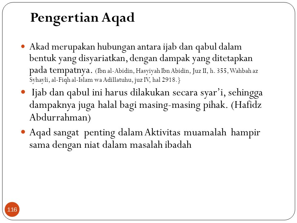 Pengertian Aqad