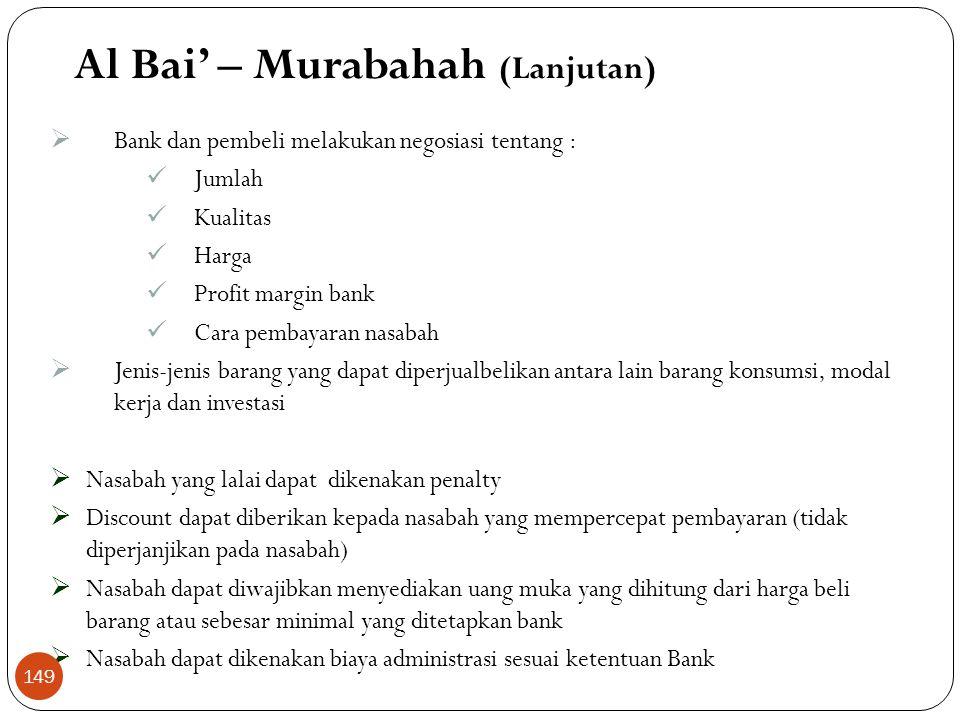 Al Bai' – Murabahah (Lanjutan)