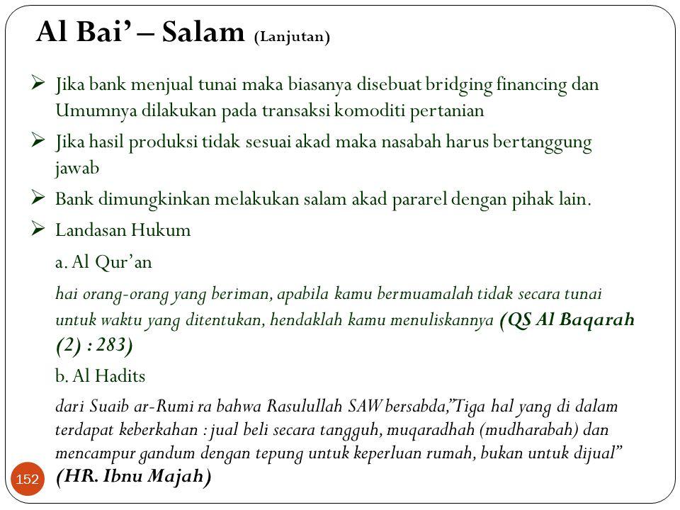 Al Bai' – Salam (Lanjutan)