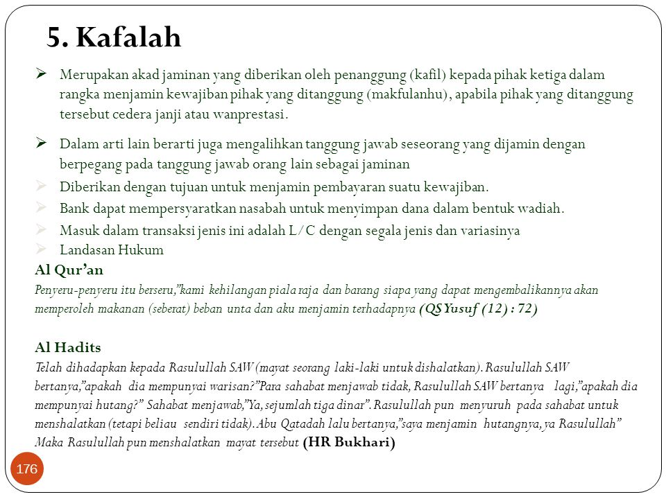 5. Kafalah