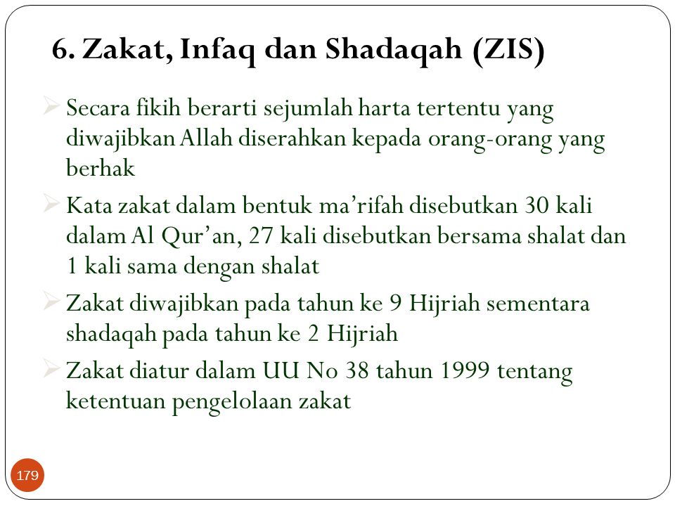 6. Zakat, Infaq dan Shadaqah (ZIS)