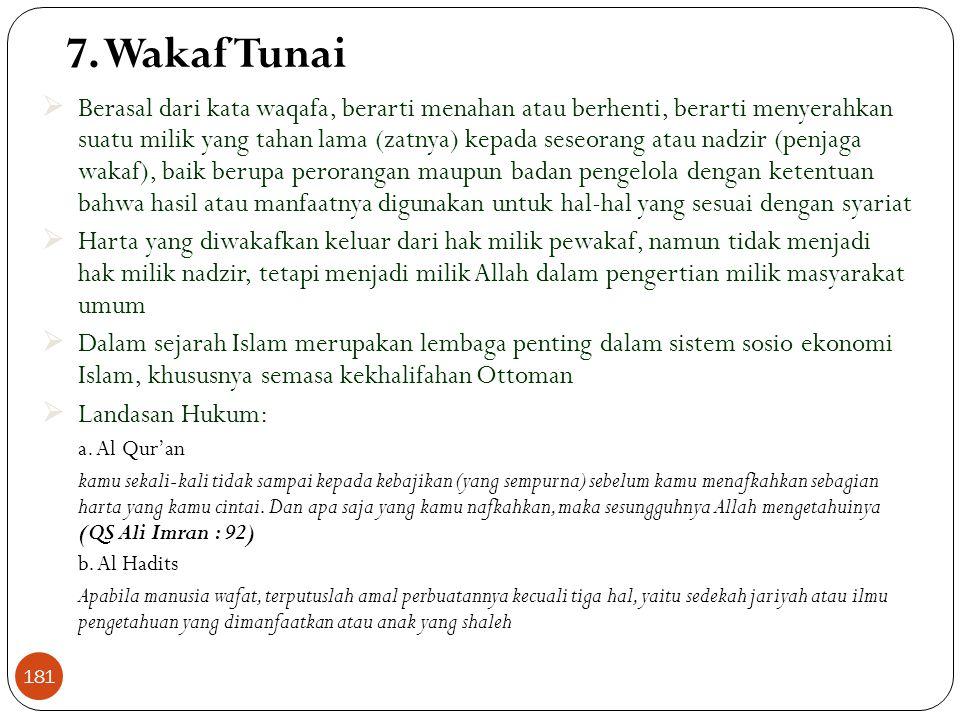 7. Wakaf Tunai