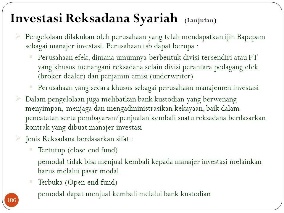 Investasi Reksadana Syariah (Lanjutan)