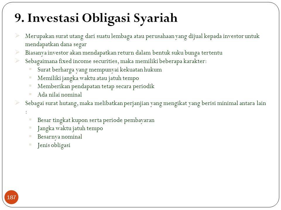9. Investasi Obligasi Syariah