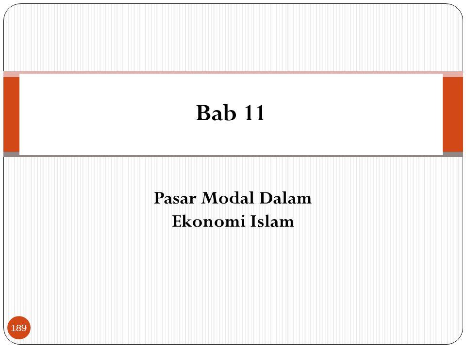 Bab 11 Pasar Modal Dalam Ekonomi Islam