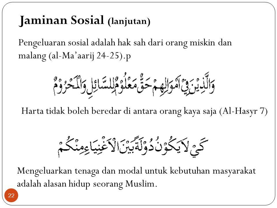Jaminan Sosial (lanjutan)