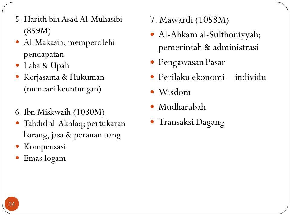 Al-Ahkam al-Sulthoniyyah; pemerintah & administrasi Pengawasan Pasar
