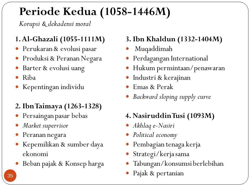 Periode Kedua (1058-1446M) Korupsi & dekadensi moral