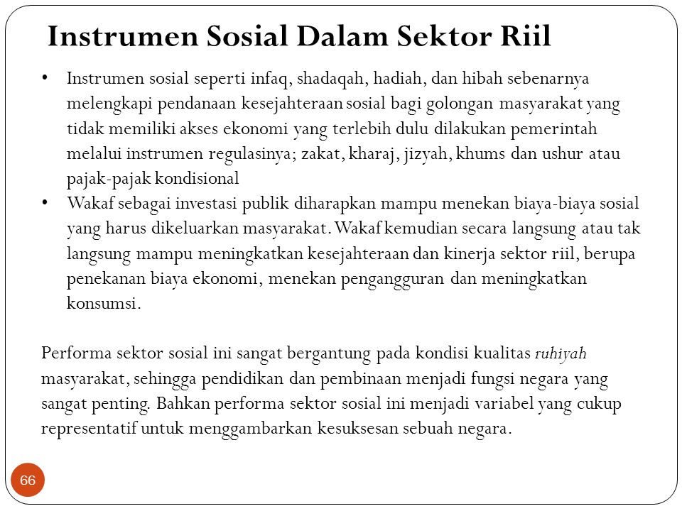 Instrumen Sosial Dalam Sektor Riil