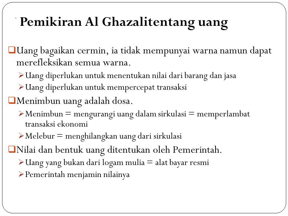 Pemikiran Al Ghazalitentang uang