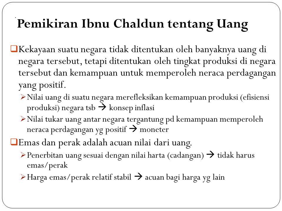 Pemikiran Ibnu Chaldun tentang Uang