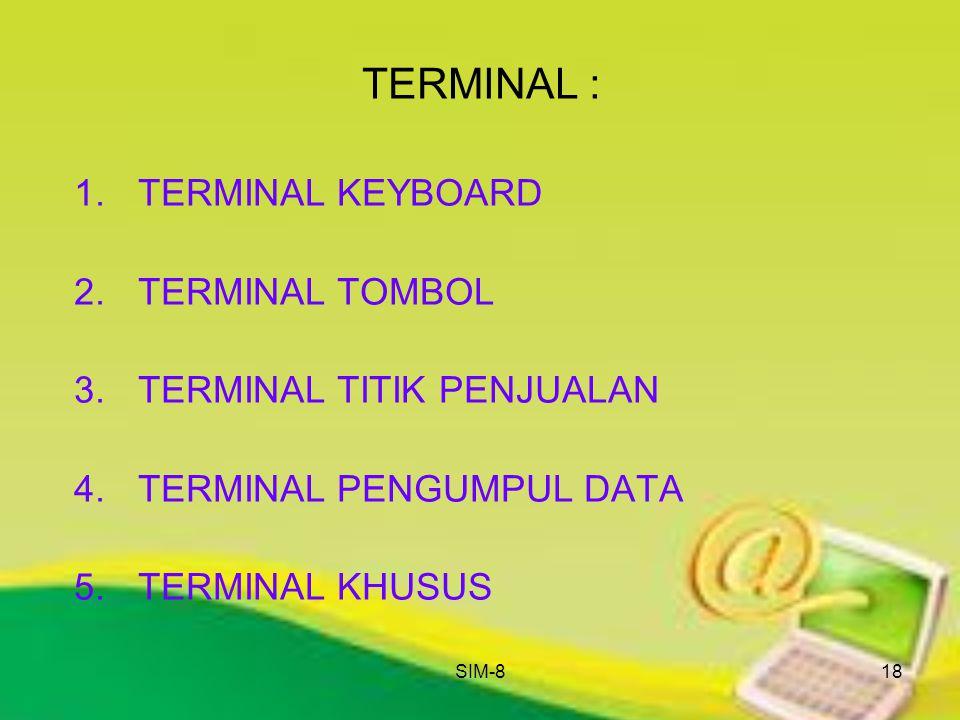 TERMINAL : TERMINAL KEYBOARD TERMINAL TOMBOL TERMINAL TITIK PENJUALAN