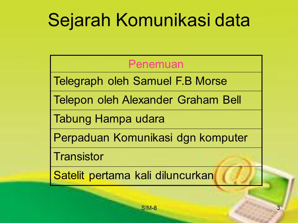 Sejarah Komunikasi data