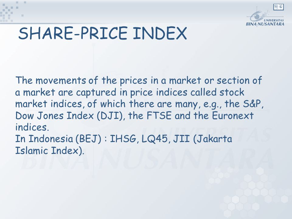 SHARE-PRICE INDEX