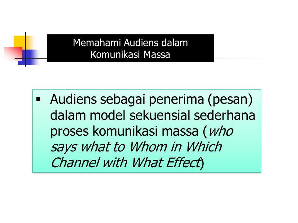 Memahami Audiens dalam Komunikasi Massa