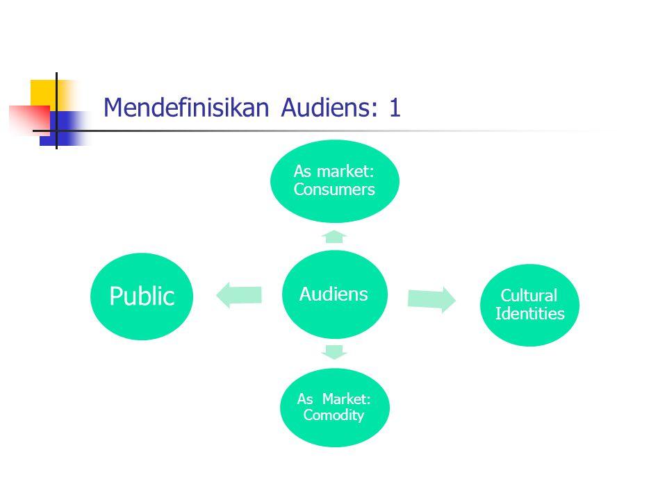 Mendefinisikan Audiens: 1