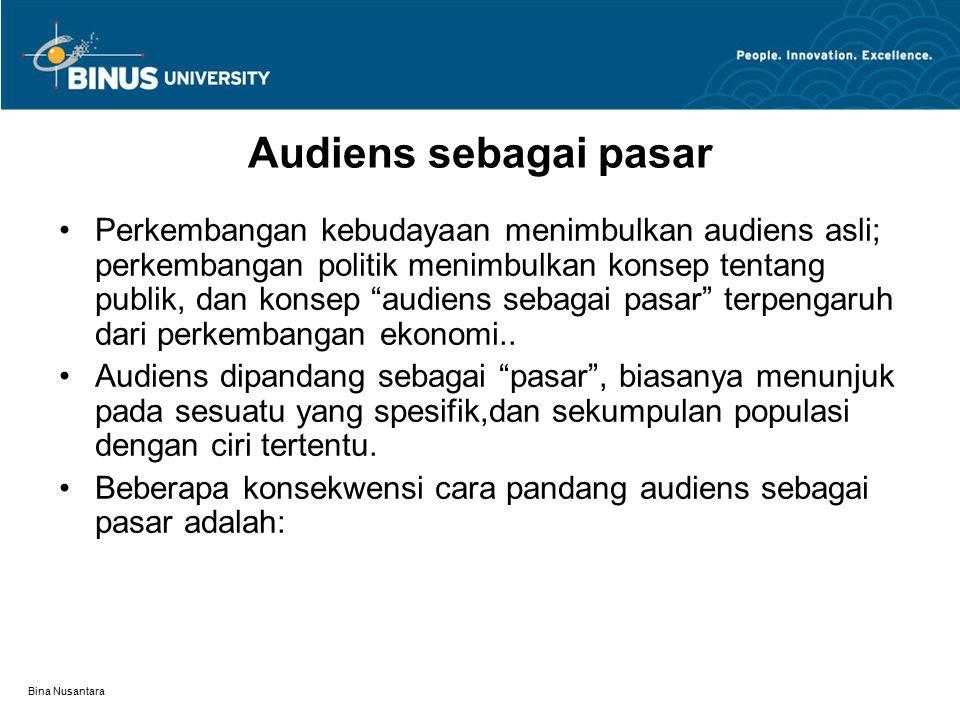 Audiens sebagai pasar