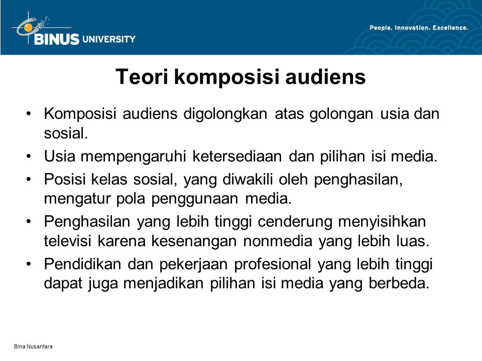Teori komposisi audiens