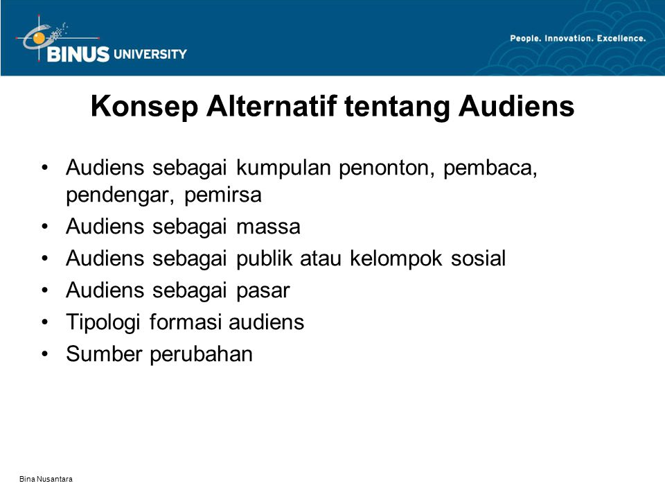 Konsep Alternatif tentang Audiens