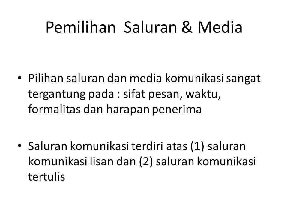 Pemilihan Saluran & Media