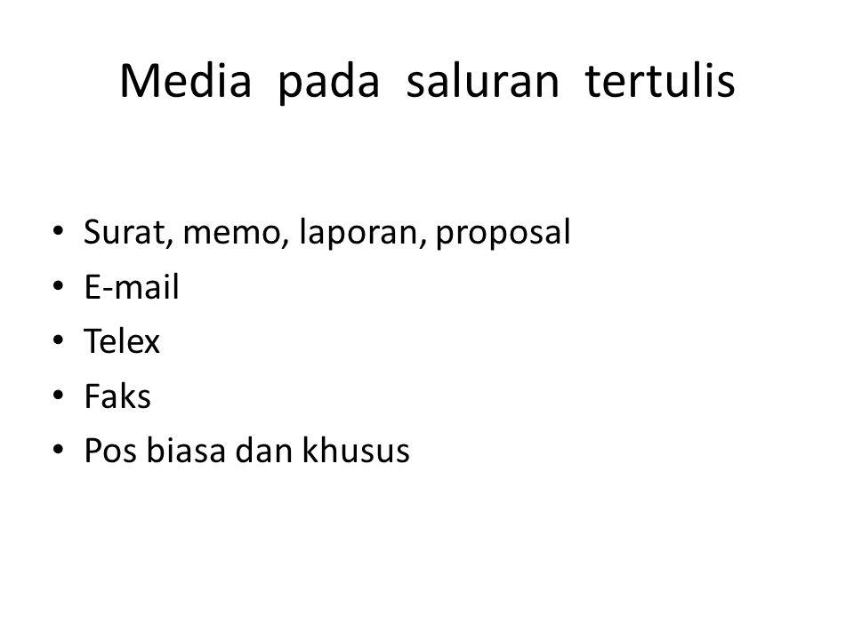 Media pada saluran tertulis