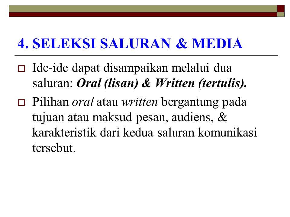 4. SELEKSI SALURAN & MEDIA