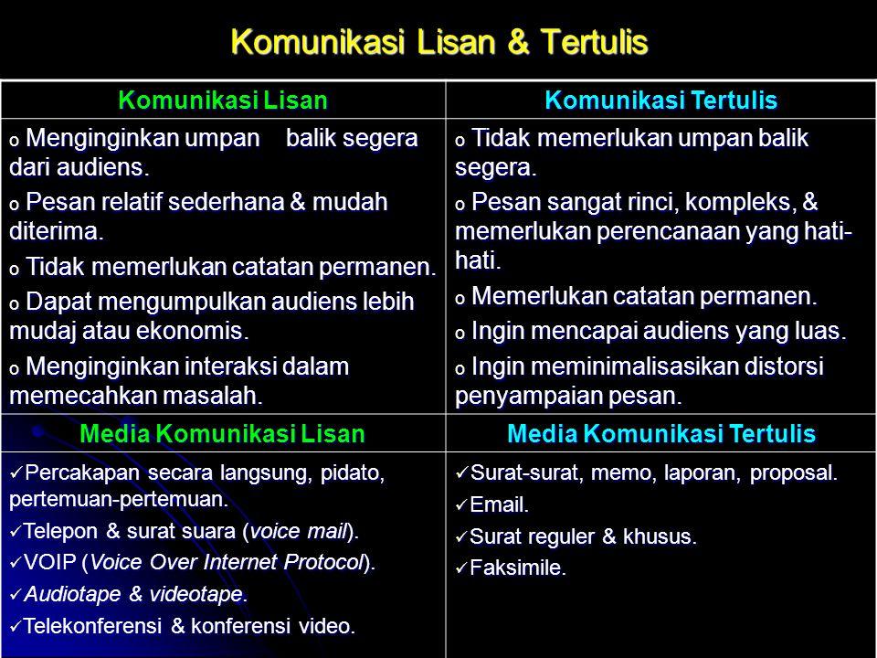 Komunikasi Lisan & Tertulis