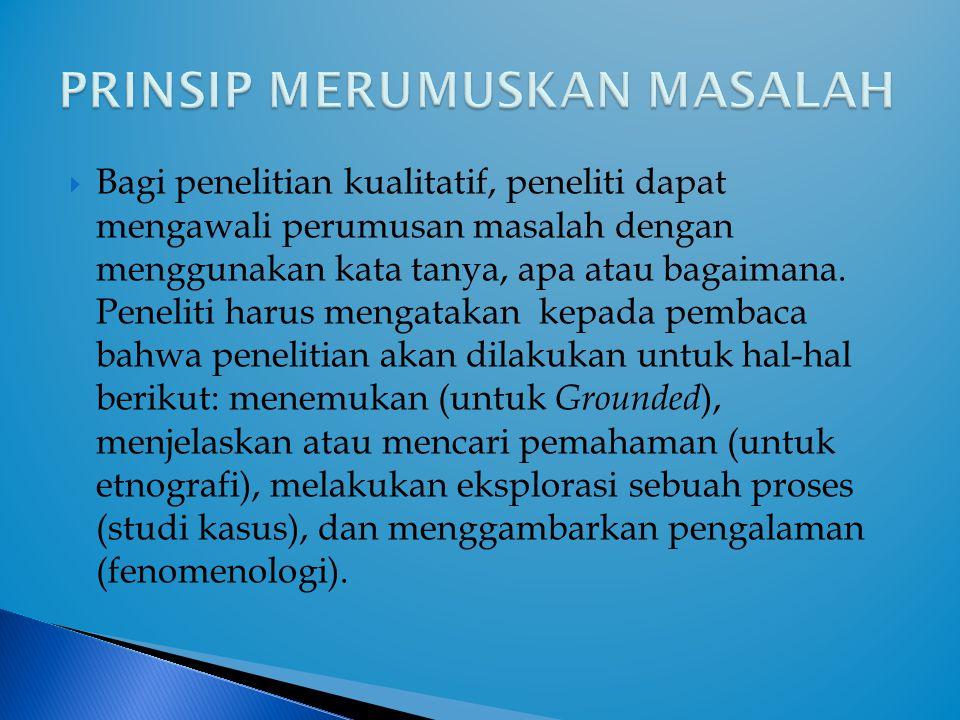 PRINSIP MERUMUSKAN MASALAH