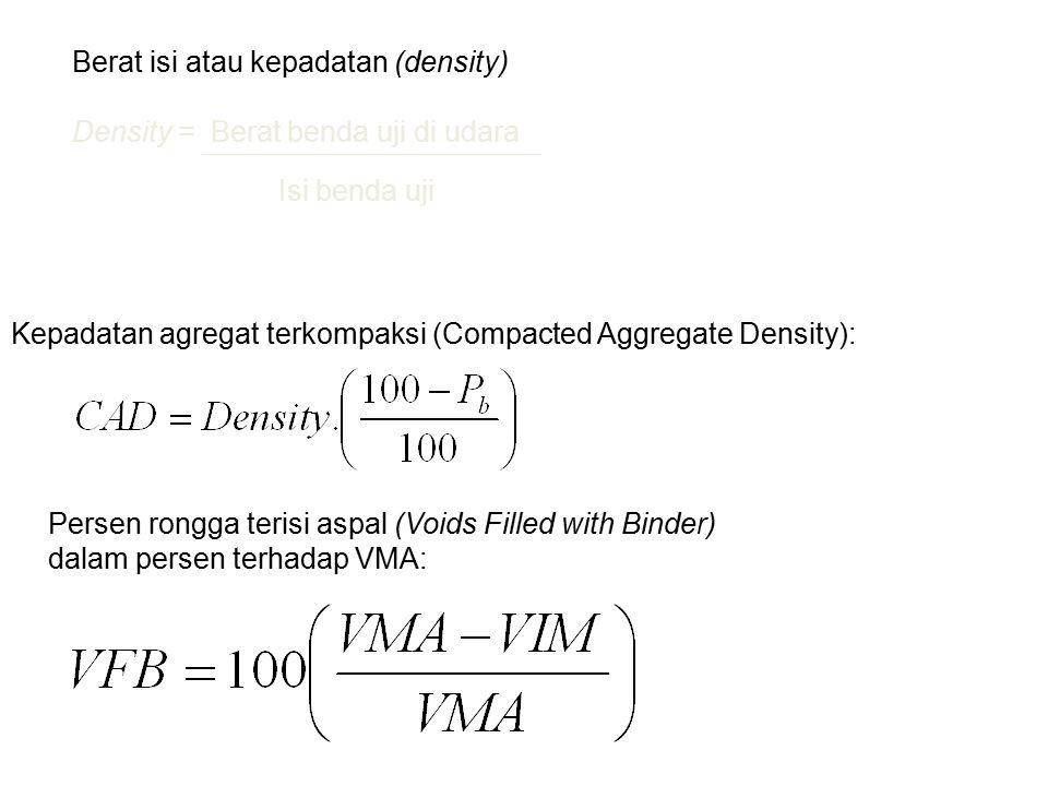 Berat isi atau kepadatan (density)