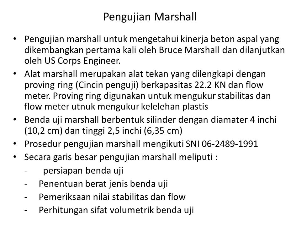 Pengujian Marshall