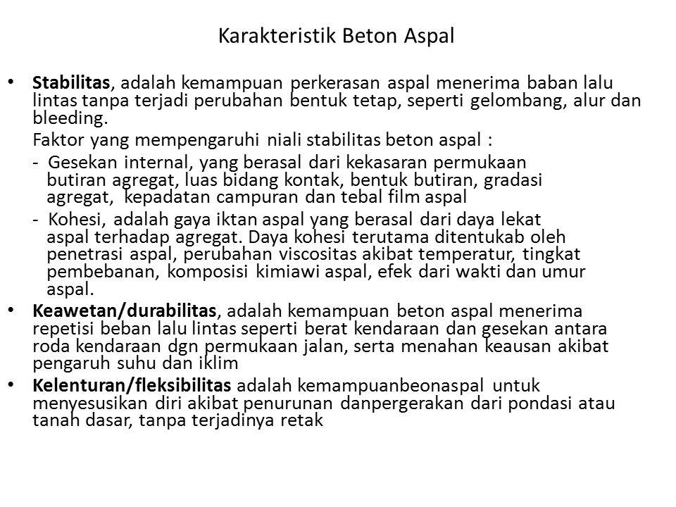 Karakteristik Beton Aspal