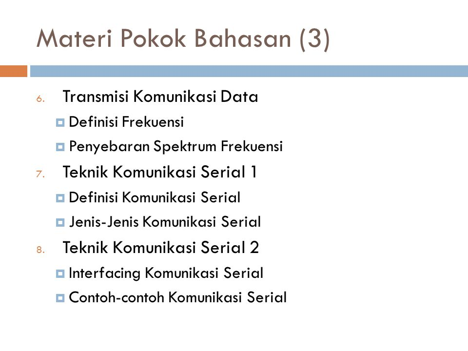Materi Pokok Bahasan (3)
