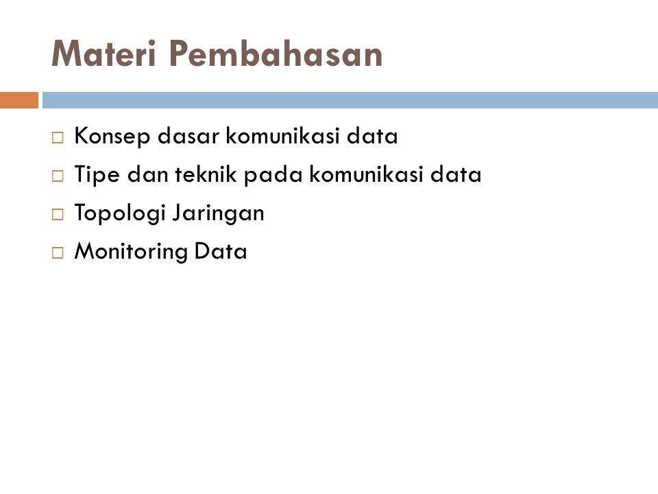 Materi Pembahasan Konsep dasar komunikasi data