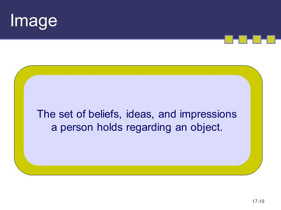 Image The set of beliefs, ideas, and impressions