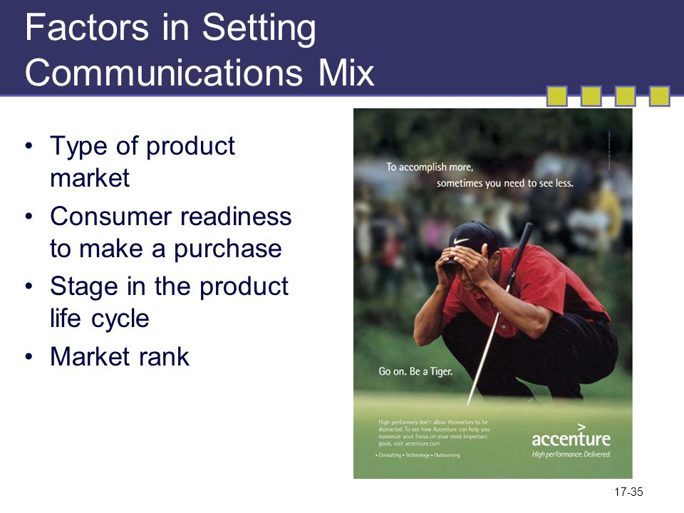 Factors in Setting Communications Mix