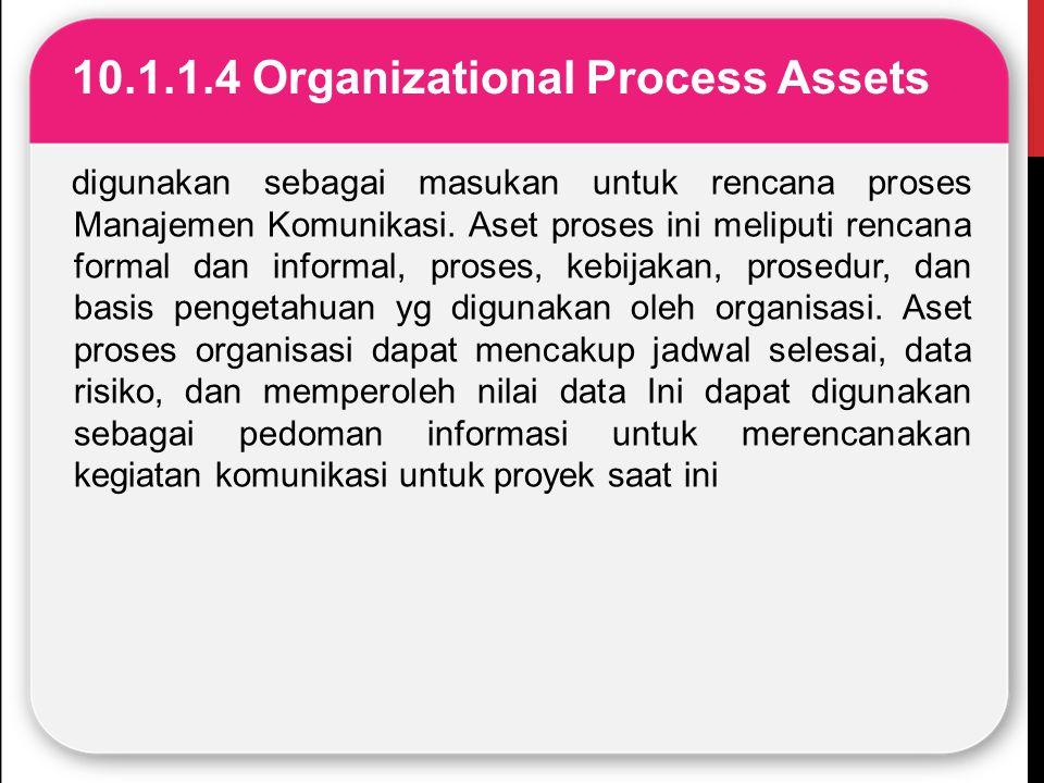 10.1.1.4 Organizational Process Assets