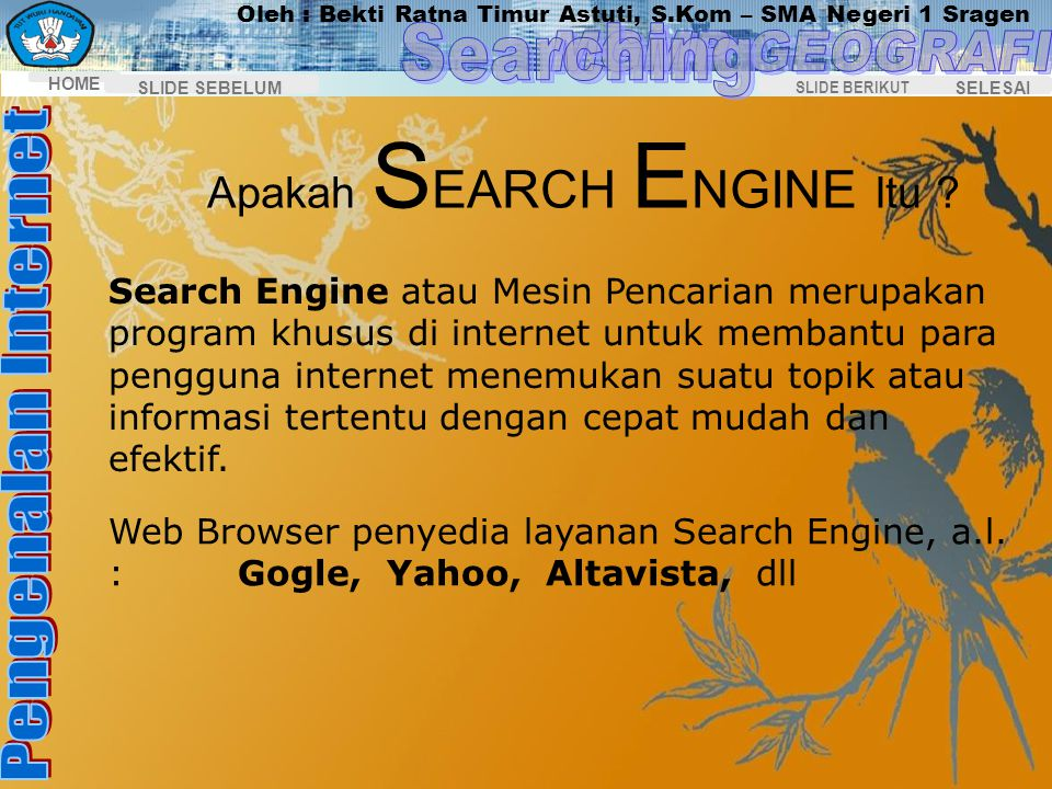 Apakah SEARCH ENGINE Itu