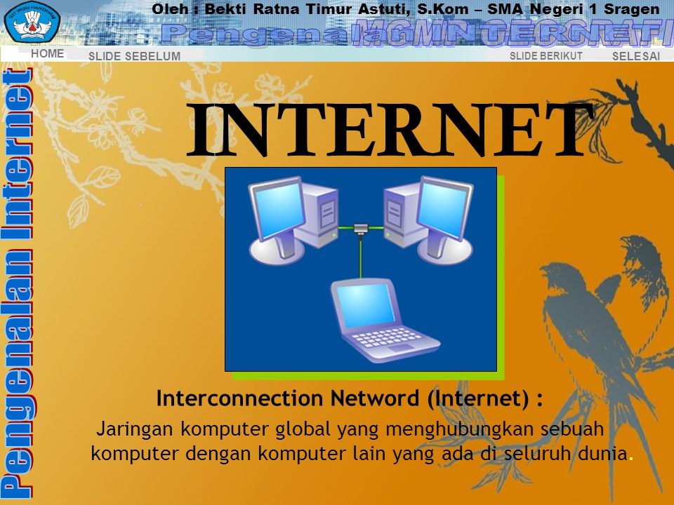 Interconnection Netword (Internet) :