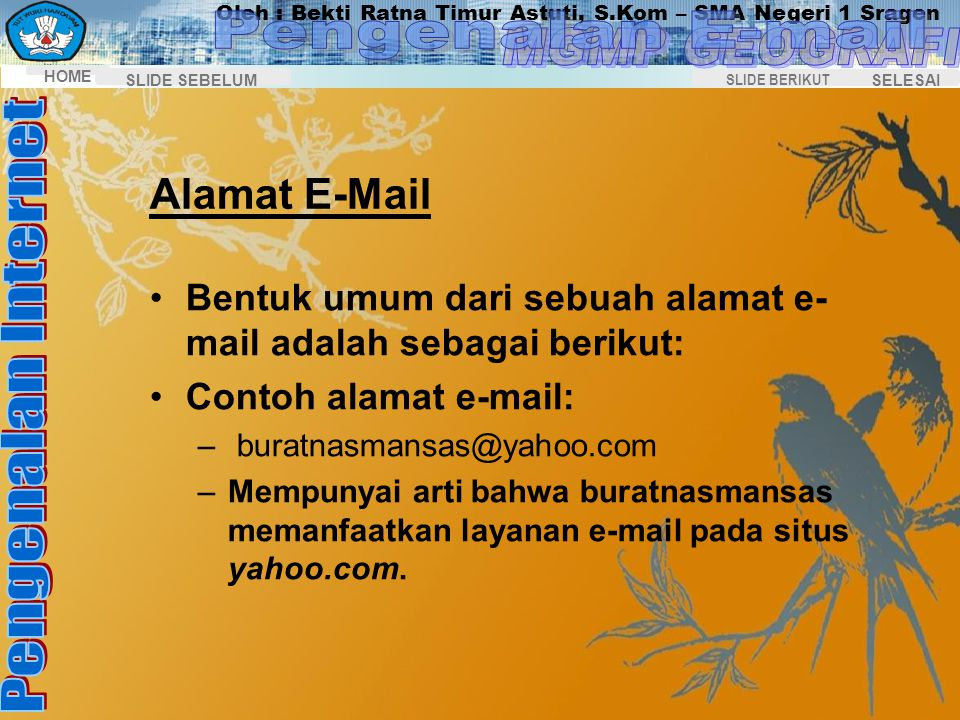 Pengenalan E-mail Alamat E-Mail