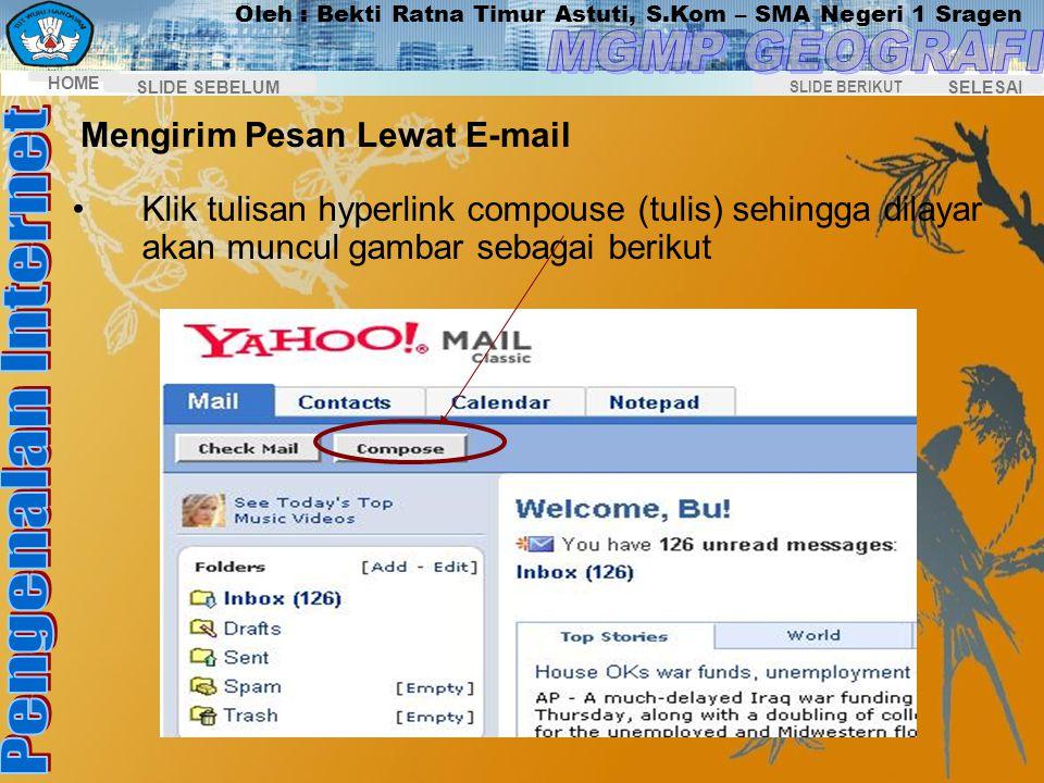 Mengirim Pesan Lewat E-mail