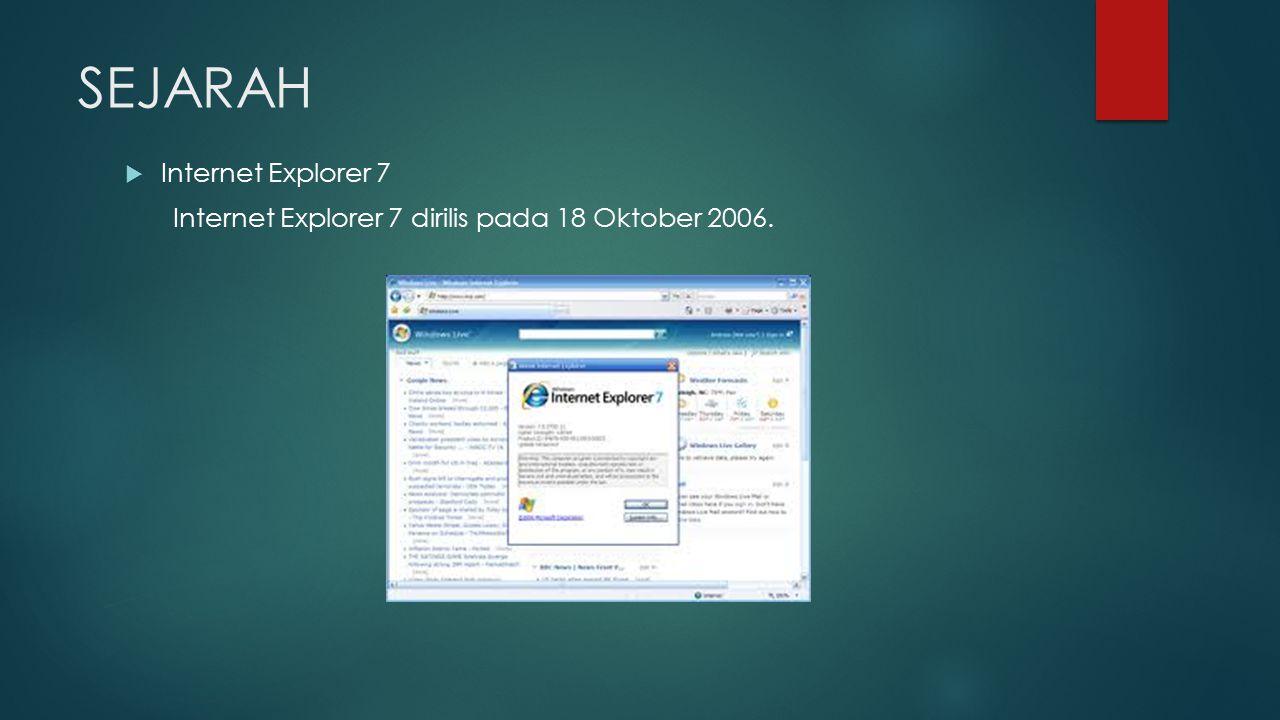 SEJARAH Internet Explorer 7