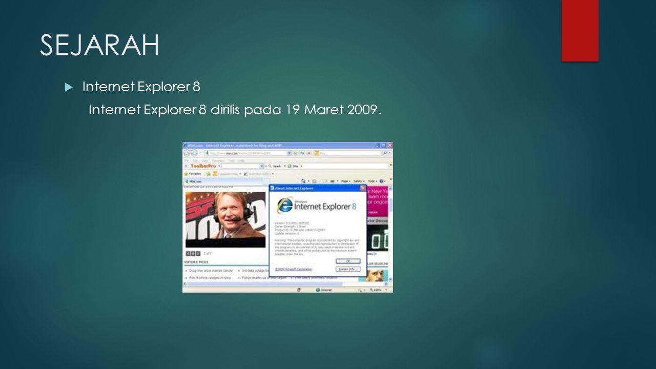 SEJARAH Internet Explorer 8