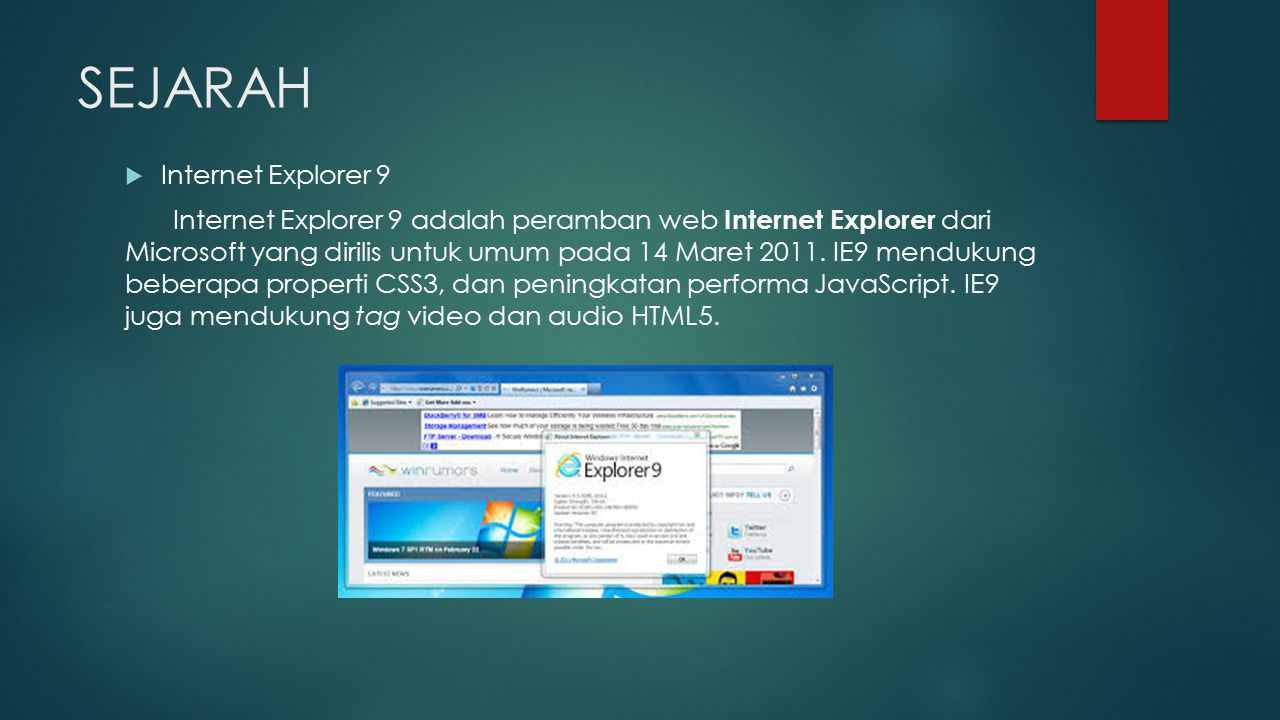 SEJARAH Internet Explorer 9