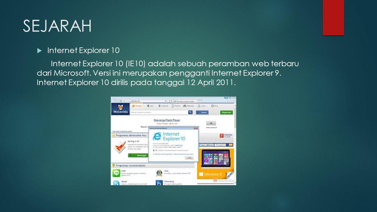 SEJARAH Internet Explorer 10