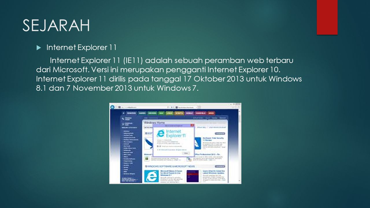 SEJARAH Internet Explorer 11