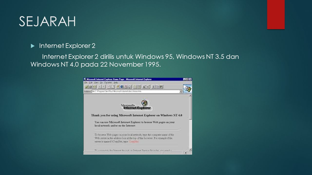 SEJARAH Internet Explorer 2
