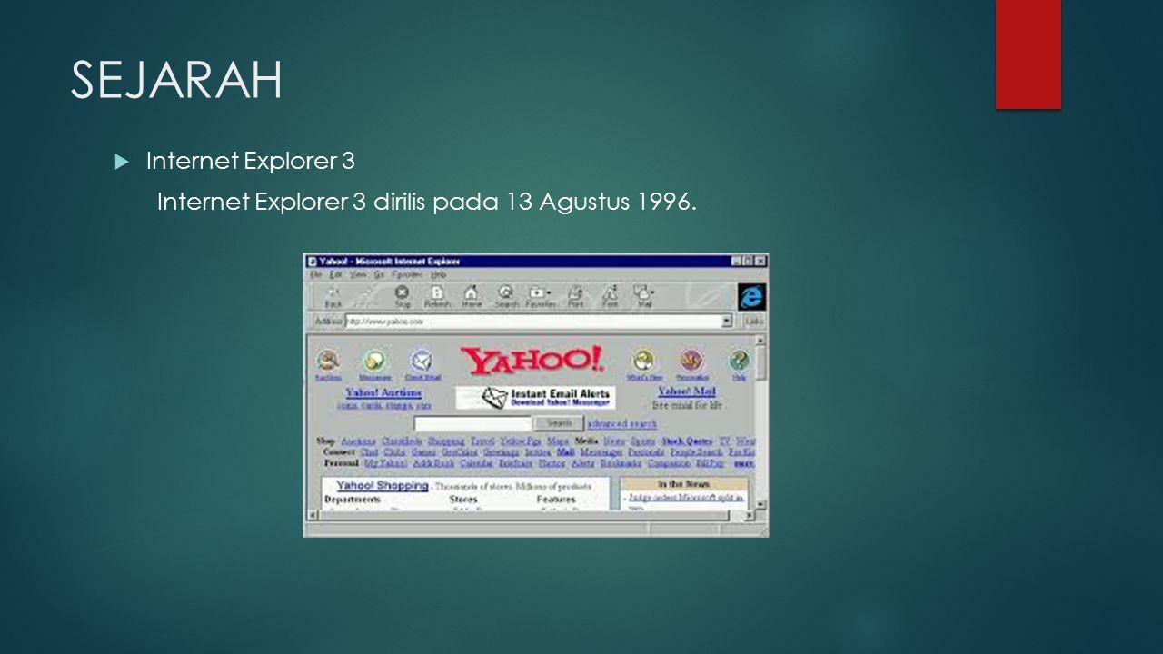 SEJARAH Internet Explorer 3