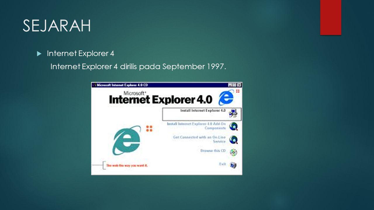 SEJARAH Internet Explorer 4