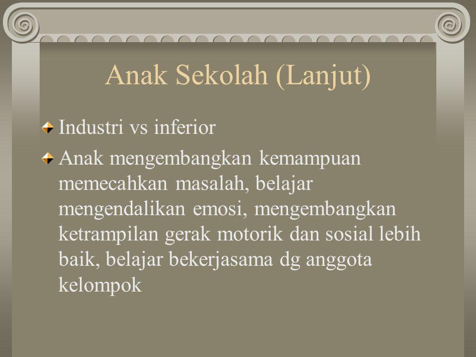 Anak Sekolah (Lanjut) Industri vs inferior