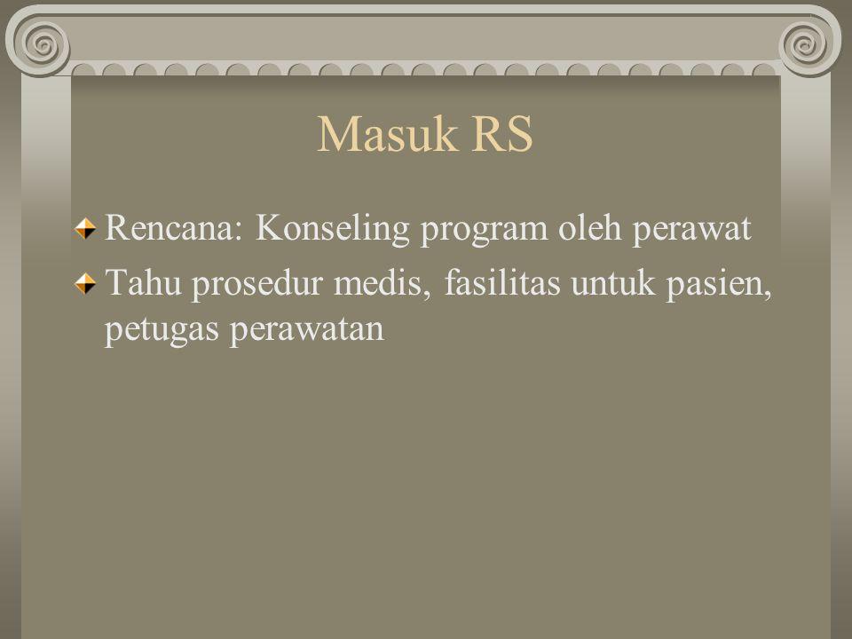 Masuk RS Rencana: Konseling program oleh perawat